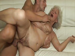 Granny fucked by young neighbor