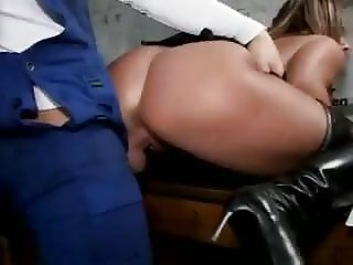 Sexy Susi Black Stockings Boots Tit- Fucked Pissing