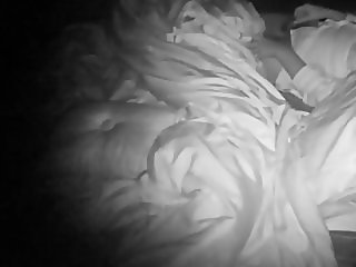 Hidden camera night vision wife masturbation
