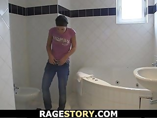 Hot Czech girl takes rough banging after shower