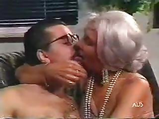 silver haired granny spunked on