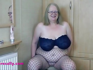 Blonde Granny with real big tits