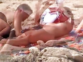 Nude Beach - Big Naturals Couple