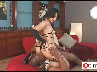 Big black for Hot Latin slave swallowing time