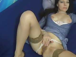 MILF with hairy pussy