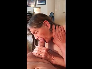 Grandma prefers cum in her ass