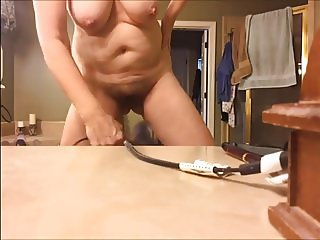 Hair Dying her pussy and tits