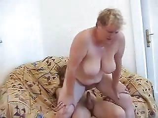 Blonde Czech mature granny