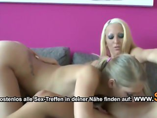 German Teen Lena and Tini in First Time Lesbian Sex