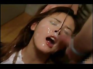 Ishikawa Rui insane nostril bukkake by white guys
