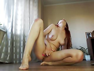 Redhead with Big Tits Squirting all over
