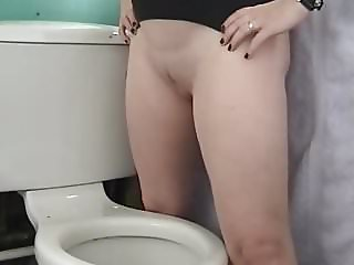 Wife stand and pee