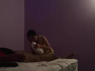 Massage parlor blowjob