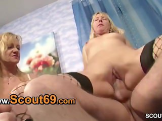 Giant young cock may fuck two horny MILFs