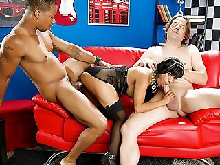 Spizoo - Latin Gabby Quinteros is punished by two big dicks