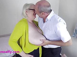 Up close playing with Sallys firm tits
