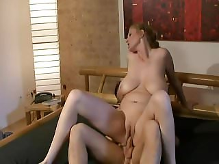 Mature Saggy Tits Bouncing On Water Bed