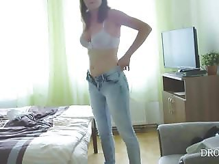 Czech porn star Victoria Daniels - Hidden cam in hotel room