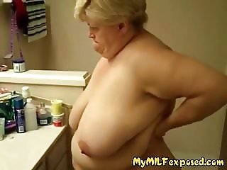 My MILF Exposed BBW granny showing her aged goodies