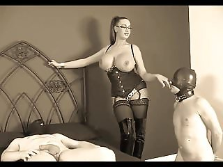 Busty Mistress & 2 Slaves #1 (Recolored)
