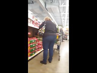 shopping bbw gilf big butt
