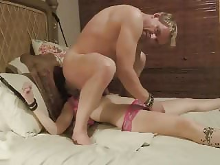 Tied up teased wife