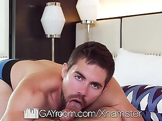 GayRoom Bearded hunk massages tight ass