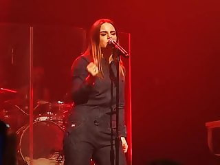 Joanna JoJo Levesque - Almost strip in concert.