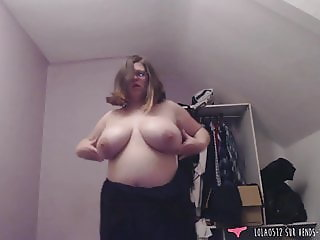 BBW French amateur strip tease and dildo - Lola0512