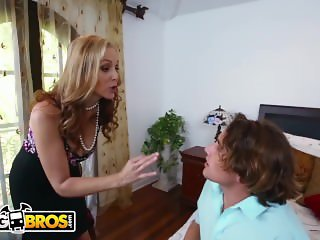 BANGBROS - MILF Julia Ann Stepmom Threesome With Latina Maid Abby Lee Brazi