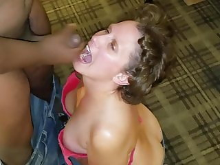 IDODOYOU mouthful of BBC cum in a hotel