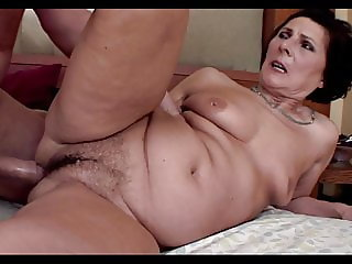 60y old granny with big hairy pussy