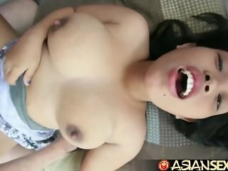 Asian Sex Diary -Chubby Filipina cutie loves white cock