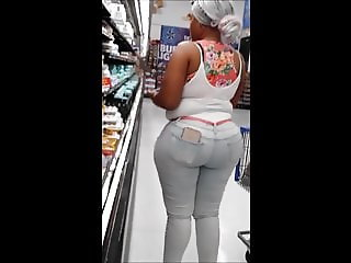 Ebony Bubble booty at Wally World