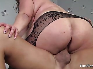 Massive Bbw Babe Gets Oiled Up And Fucked In Stockings