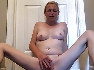 Playing with my freshly waxed pussy