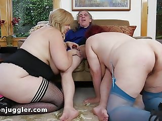 Man and wife use a blonde for sex