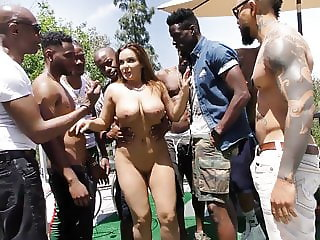 Natasha Nice Interracial Gangbang Sex