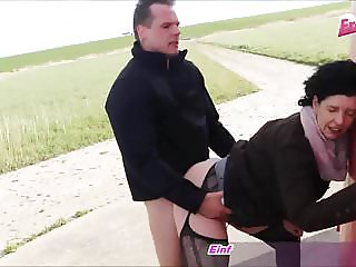 Young boy fuck german old housewife in public