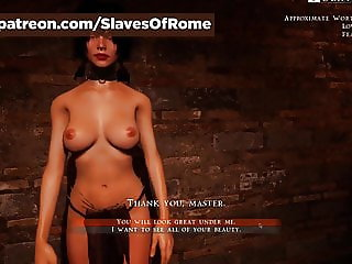 Slaves Of Rome Game - Julia undressing (in-game)