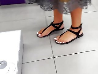 girl hot feets sexy french pedicured toes