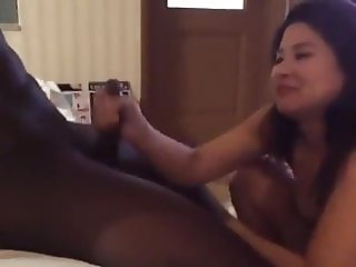 Japanese couple first time BBC