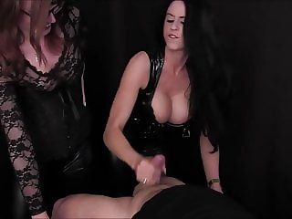 Harsh Handjob By 2 Mistress