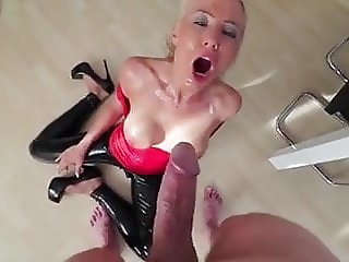 Blonde fucked and pissed