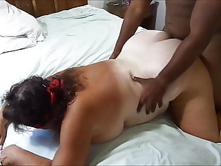 Whore Wife fucking two BBC's