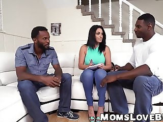 Latina mommy has her tight holes drilled hard by two BBCs