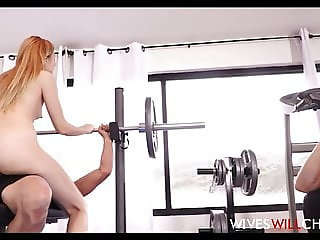 Petite Teen Cheating Wife Fucked By Trainer Husband Cuckold