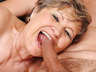 65yo Mommy got fingered and drilled hard