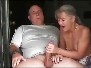 Handjob at their mobile home