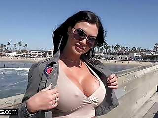 Jasmine Jae samples her first American cock and loves it
